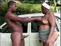 Старая толстая негритянка видео порно