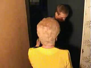 Porn Tube of Old Blonde Granny Satisfies A Boy