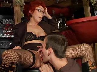 Porno Video of Hot German Redhead Granny