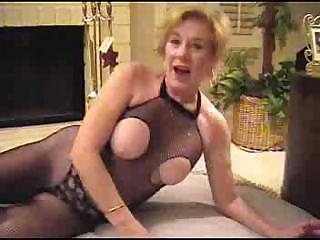 Porn Tube of Granny In Fishnet Bodystocking