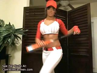 Porno Video of Camwithcarmen Uses A Baseball Bat On Her
