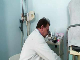 Milena Visiting Her Gyno Doctor Friend Who Is Opening And Gaping Her Old Mature Pussy Wide With A Speculum.