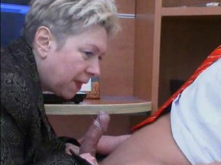 Granny Fucks the Office Boy