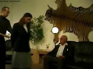 Old Guys Fuck Girl In Uniform