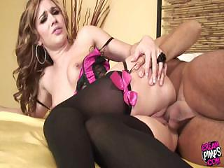 Porno Video of Dakota In Corset And Stockings Gets Fucked Hard