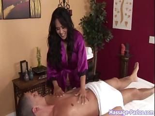 Hot Asian Swallows A Load After A Hot Massage