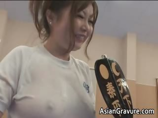 Super cute asian wrestlers blowing tube part5