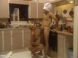 Porno Video of Houston Fucking In The Kitchen