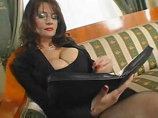 Porno Video of Mature Busty Secretary Sex