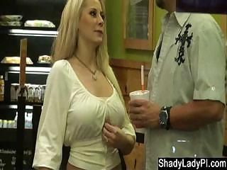 Porno Video of Blonde Slut Caught Stepping Out