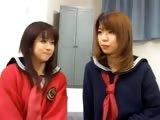 Japanese FFM threesome in hotel hotel