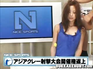 Japanese bukkake newscasters