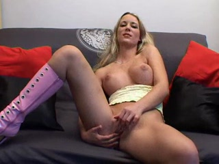Porno Video of German Girl Auditions Solo