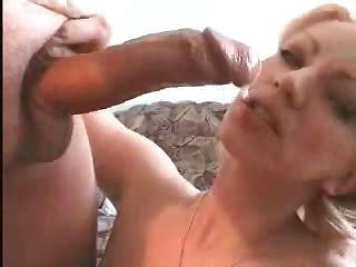 Porn Tube of Amateur Blonde Milf Gagging,anal Fucking And Cumplay