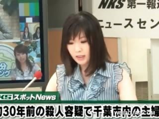 Asian TV presenter gets pussy teased during her show