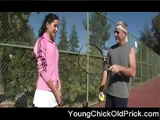 Porno Video of Old Tennis Coach Fucks Teen