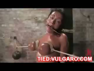 bdsm tits tied up