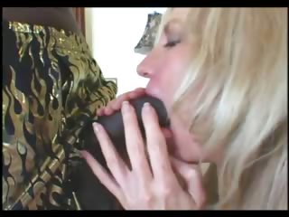 Blonde mature fucked by big black dong