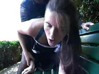 Porn Tube of Busty German Amateur Fucked In Public