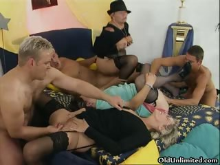 Nasty mature sluts go crazy getting part1
