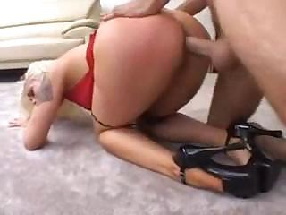 Porn Tube of Blond Hoochie Gets A Really Rough Slapping And Fucking Here