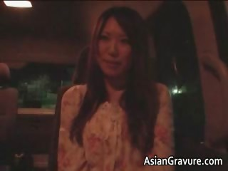 Super cute asian babe blowing tube part3