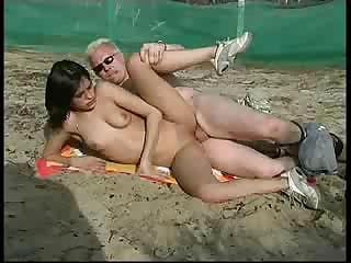 teen nudist fucked hard at beach