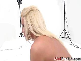 Blonde Whore Swallows Strong Dick And Finishes The Blowjob By Eating Cum
