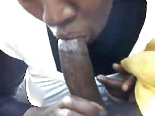 Porn Tube of Angry Black Granny Sucks Big Dick In Exchange For The Rent Pay