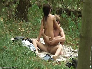 Porno Video of Romantic Picnic Continues With Sex With A Slim Dark-haired Cutie