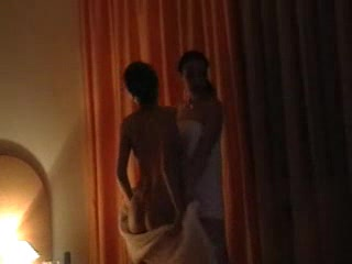 Porn Tube of Homemade Lesbians In Hotel Room