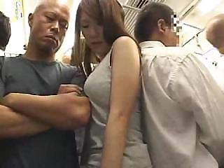 Porno Video of Astonishing Asian Girl With Hairy Pussy Gets Fucked In The Train
