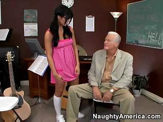Porno Video of Lusty Teacher Lorena Sanchez Fucks With The Parents Of Her Students Regularly