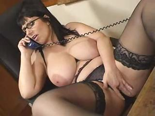 Porno Video of British Josephine James Talks Dirty On The Phone