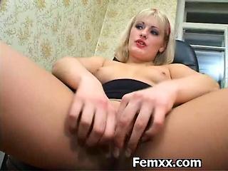 Femdomme Madam Enjoying Chastity