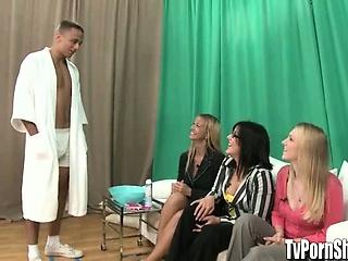Amateur Girls on a TV  Porn Show