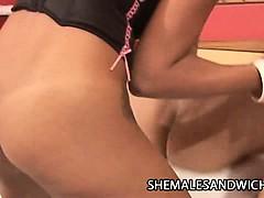 Two hot shemales Fabyana Kanavo and Adriana Ventury