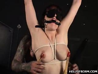 Snow Gets A BDSM Tit Torture