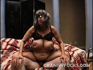 Horny Granny might look a little weak but don't be fooled..