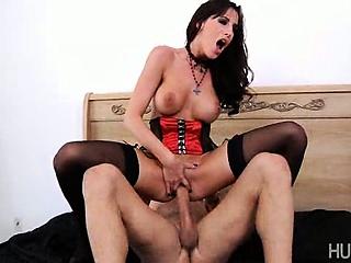 Bare pussy full of hard dick