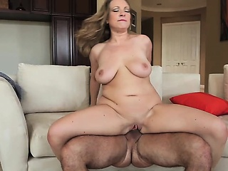 Balls slapping against her shaved pussy