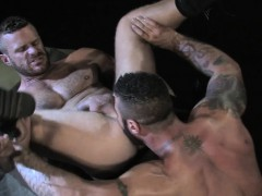 Alex is in pig heaven grinding his hole against Landon's rod