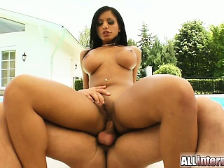 A lucky guy gets to dump a bunch of cum in Kyras tight ass.