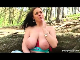 Titty fucking Tiffany gets coated in cum
