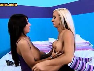 huge fake tits lesbian pornstars