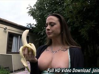 Amazingly perfect tits and deepthroat banana Chanel Preston