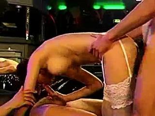 Group of European bukkake sluts getting fucked