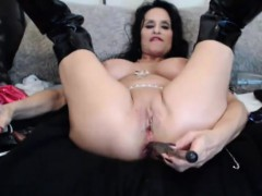 Old busty celeb mature Rita Daniels fucks ass