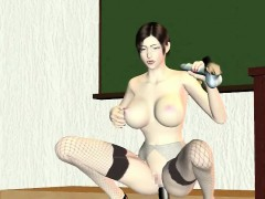 Pregnant 3D anime hottie gets fucked