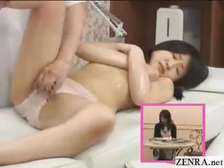topless busty japanese teen schoolgirl pussy massage